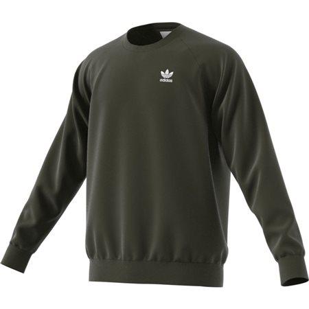 adidas Originals Green Trefoil Essentials Crewneck Sweatshirt  - Click to view a larger image