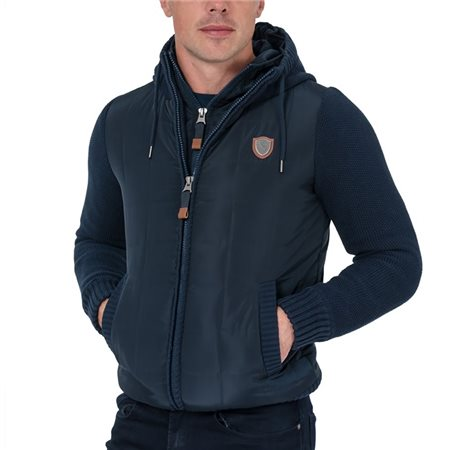 Tommy Bowe XV Kings Classic Navy Cape Breton Zip Up Knitted Jacket  - Click to view a larger image