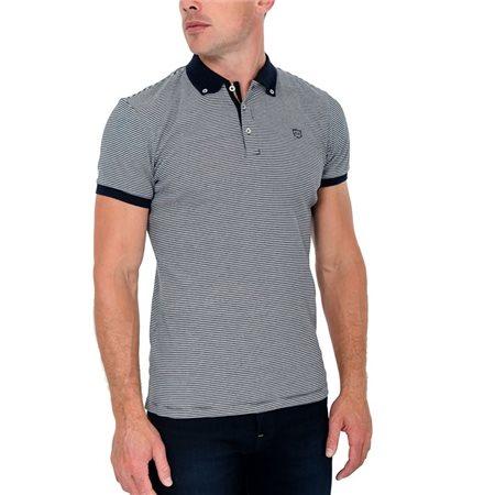 Tommy Bowe XV Kings Bleu Stripe Randwick Polo Shirt  - Click to view a larger image