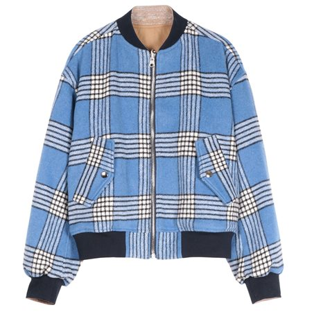 FRNCH Paris Blue Sisley Zip Jacket  - Click to view a larger image