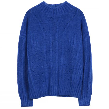 FRNCH Paris Blue Norberte Chunky Knit Sweater  - Click to view a larger image