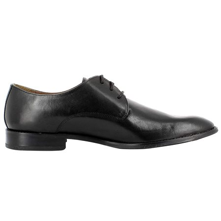 Gordon And Bros Black Mirco Leather Dress Shoes  - Click to view a larger image