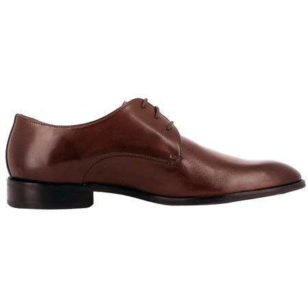 Gordon And Bros Brown Mirco Leather Dress Shoes  - Click to view a larger image