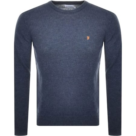 Farah Tar Rosecroft Lambswool Crew Neck Jumper  - Click to view a larger image