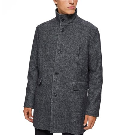 Selected Homme Grey Beluga Wool Coat  - Click to view a larger image