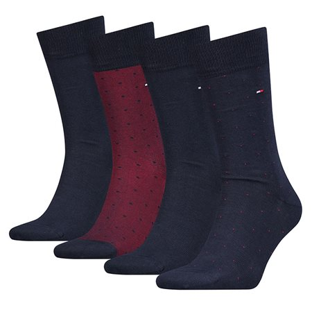 Tommy Accessories Red 4 Pack Mixed Dot Print Socks  - Click to view a larger image
