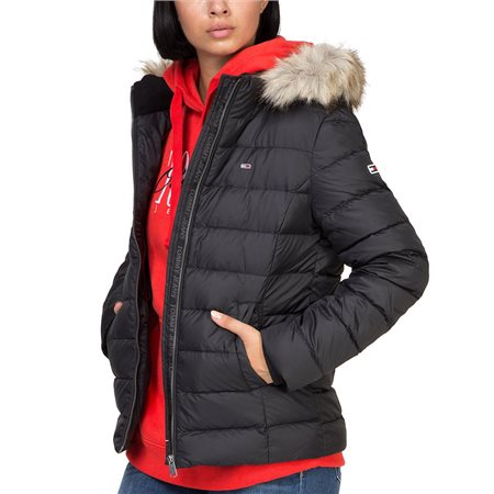 Tommy Hilfiger Womens Essential Hooded Down Jacket  - Click to view a larger image