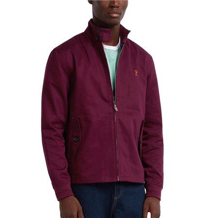 Farah Raspberry Hardy 100 Harrington Jacket  - Click to view a larger image