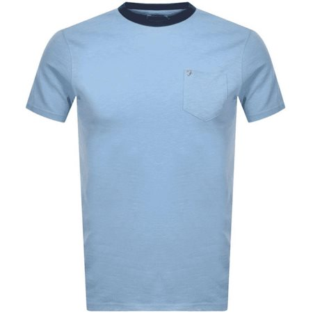Farah Moonstone Groove Slim Fit Pocket T-Shirt  - Click to view a larger image