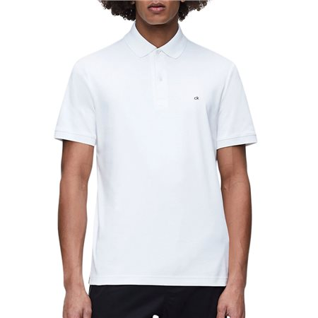 Calvin Klein Calvin White Slim Fit Polo Shirt  - Click to view a larger image