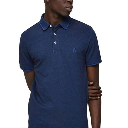 Selected Homme Limoges Blue Organic Cotton Polo Shirt  - Click to view a larger image