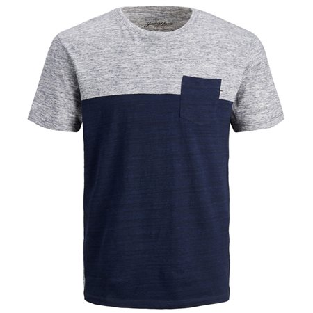 Jack & Jones Essentials Navy Blazer Mix Crew Neck T-Shirt  - Click to view a larger image