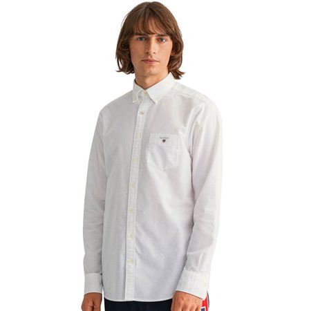 Gant White Regular Fit Oxford Shirt  - Click to view a larger image