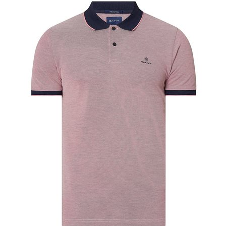 Gant Rapture Rose 4-Color Oxford Piqué Rugger Polo Shirt  - Click to view a larger image