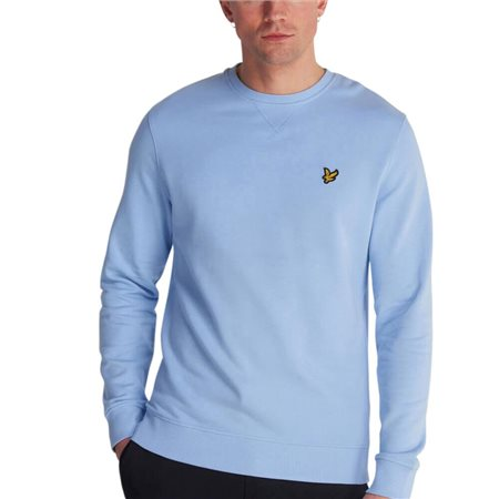 Lyle & Scott Pool Blue Crew Neck Sweater  - Click to view a larger image