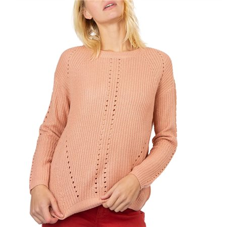 Tiffosi Orange Knitted Back Detail Jumper  - Click to view a larger image