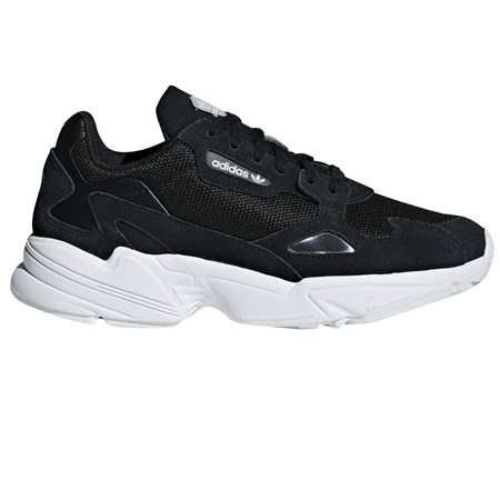 adidas Originals Black/White Falcon Trainers  - Click to view a larger image