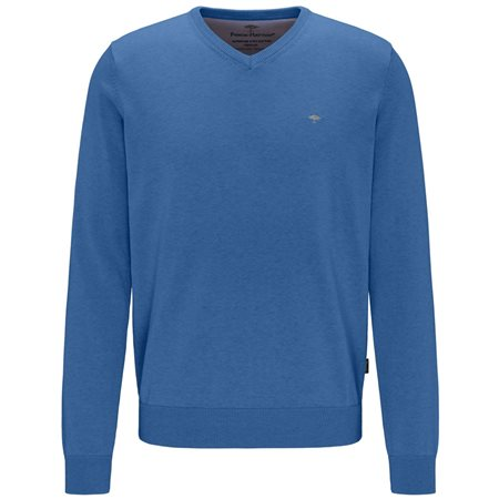 Fynch Hatton Navy V-Neck Knit  - Click to view a larger image