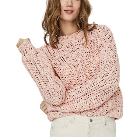 Vero Moda Chintz Rose Voluminous Sleeved Knitted Pullover  - Click to view a larger image
