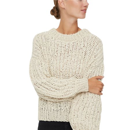 Vero Moda Birch Voluminous Sleeved Knitted Pullover  - Click to view a larger image