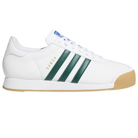 adidas Originals White/Green Samoa Trainers  - Click to view a larger image