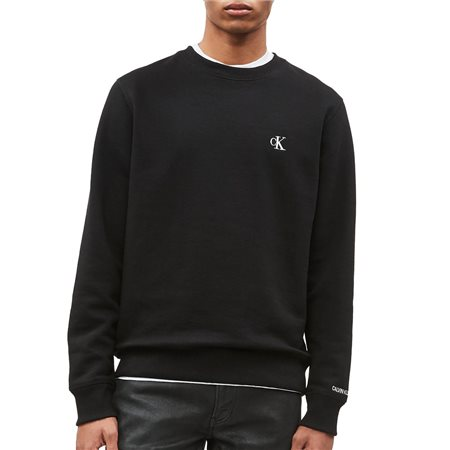 Calvin Klein Black Embroidered Logo Sweatshirt  - Click to view a larger image
