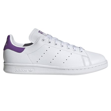 White/Purple Stan Smith Trainers
