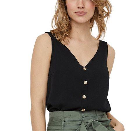 Vero Moda Black Button Top  - Click to view a larger image