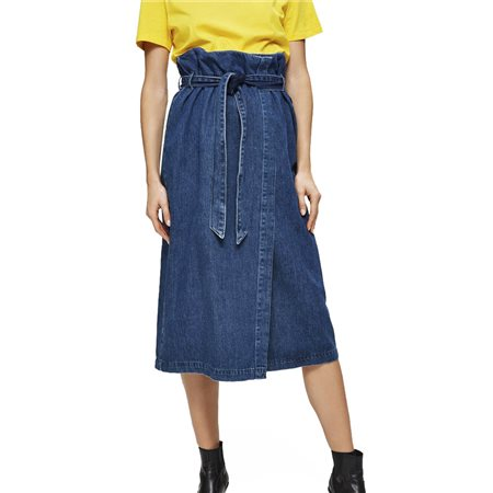 Selected Femme Dark Blue Denim Skirt  - Click to view a larger image