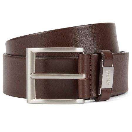 BOSS Dark Brown Italian Leather Belt  - Click to view a larger image