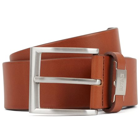 BOSS Tan Italian Leather Belt  - Click to view a larger image