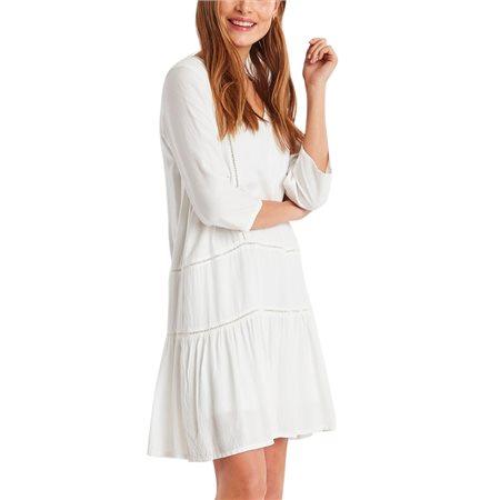 ICHI Cloud Dancer Fernando 1/4 Sleeve Dress  - Click to view a larger image