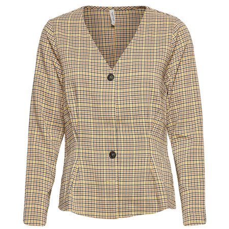 BlendShe Brown Sono Check Blouse  - Click to view a larger image