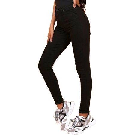 Toxic3 Black High Waist Colour Jeans  - Click to view a larger image