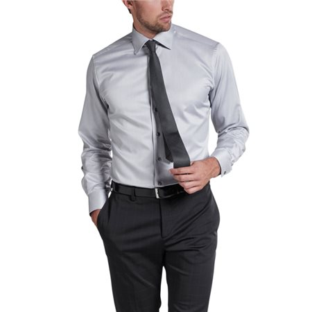 Eterna Grey Modern Fit Dress Shirt  - Click to view a larger image