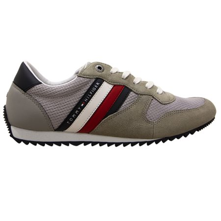 Tommy Hilfiger Footwear Antique Silver Essential Mesh Trainer  - Click to view a larger image
