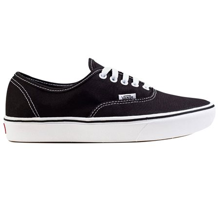 Vans Footwear Black/White Authentic Comfycush Trainer  - Click to view a larger image