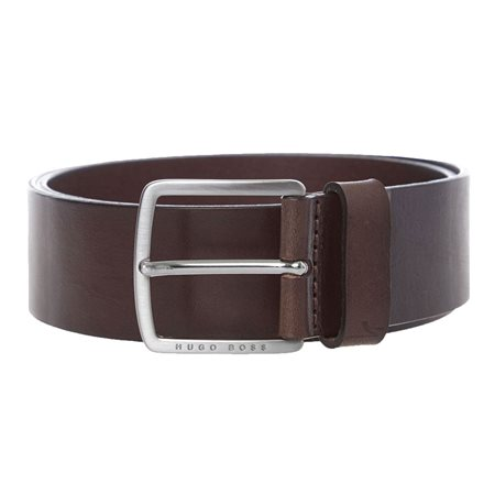 BOSS Brown Sjeeko Leather Belt  - Click to view a larger image