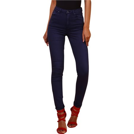 Toxic3 Navy High Waist Colour Jeans  - Click to view a larger image