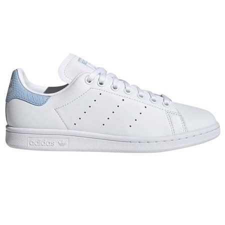 adidas Originals White/Blue Stan Smith Trainers  - Click to view a larger image