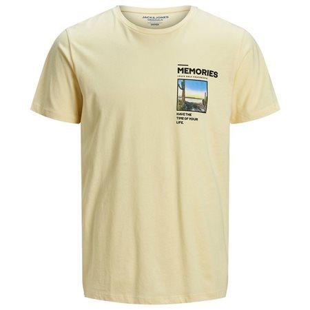 Jack & Jones Originals Yellow Photo Faster T-Shirt  - Click to view a larger image