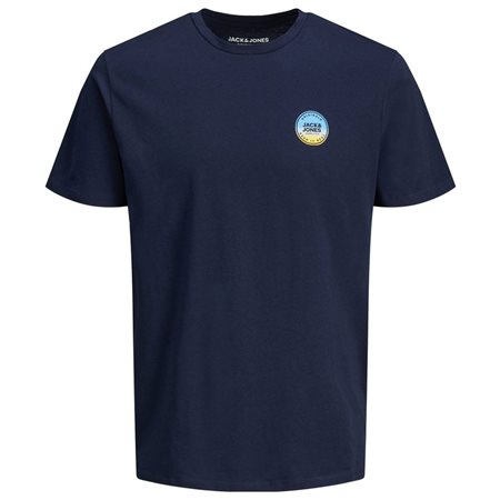 Jack & Jones Originals Navy Photo Faster T-Shirt  - Click to view a larger image