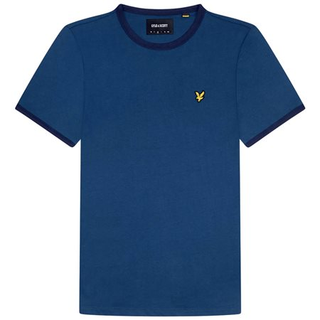 Lyle & Scott Indigo Navy Ringer T-Shirt  - Click to view a larger image