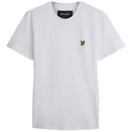 Lyle & Scott White Plain T-Shirt  - Click to view a larger image