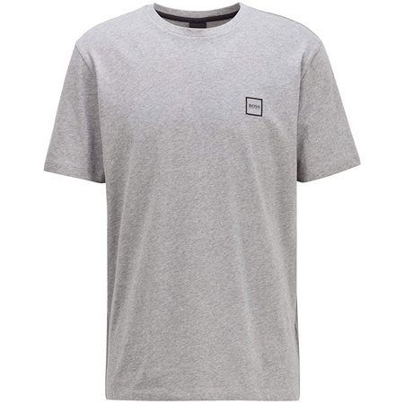 BOSS Light Grey Single Jersey Cotton T-Shirt  - Click to view a larger image