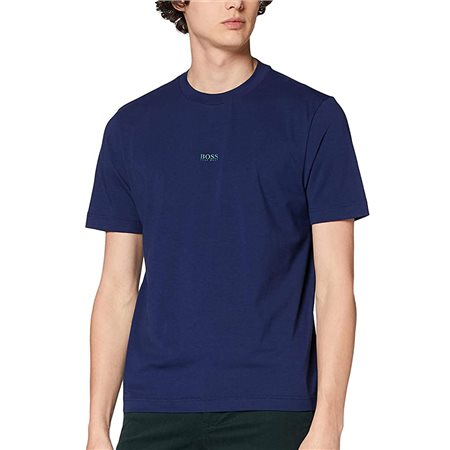 BOSS Navy Relaxed Fit Stretch Cotton T-Shirt  - Click to view a larger image