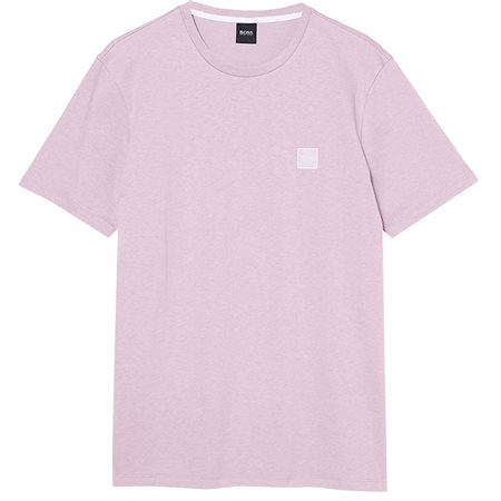 BOSS Dark Pink Single Jersey Cotton T-Shirt  - Click to view a larger image