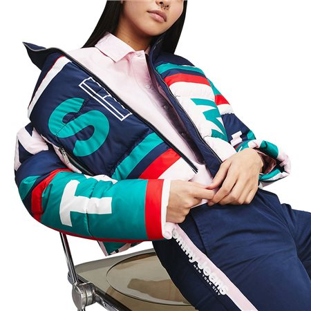 Tommy Jeans Colour-Blocked Puffer Jacket  - Click to view a larger image