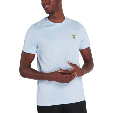 Lyle & Scott Pastel Blue Plain T-Shirt  - Click to view a larger image