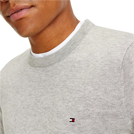 Tommy Hilfiger Grey Regular Fit Crew Neck Jumper 3